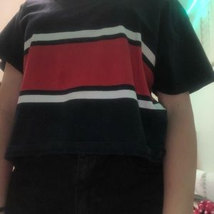 red white and blue brand melville tshirt